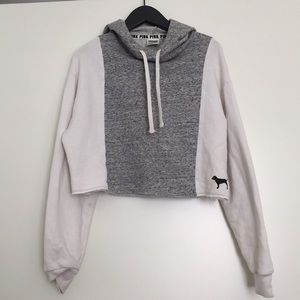 Victoria's Secrets Pink grey crop hoodie XS